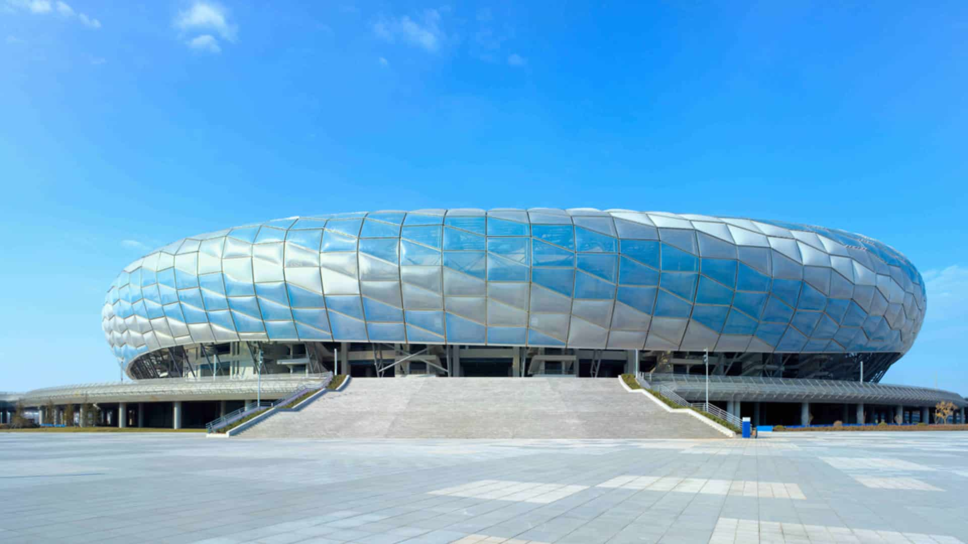 Architectural Design&Research of HIT and Nadel&Hwa Associates selected Texlon® ETFE as the cladding for this complex elliptic form of DaLian stadium.
