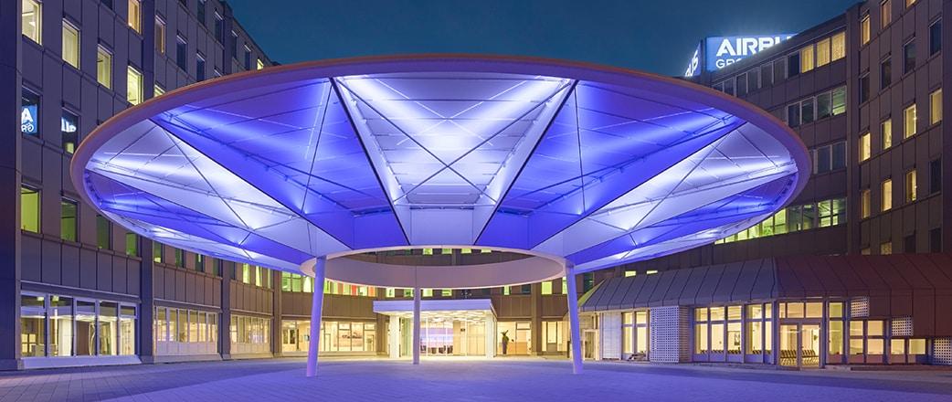 Beleuchtetes, einlagiges Texlon® ETFE System