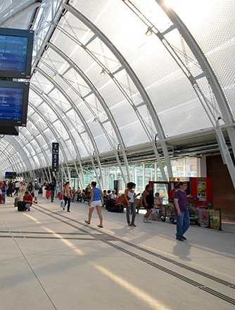 The Texlon® ETFE inflated panels or cushions soften sunlight in summer.
