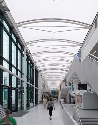 Multiple Texlon® ETFE skylights are included in the £320 million redevelopment project to the existing Kings Mill acute facility.
