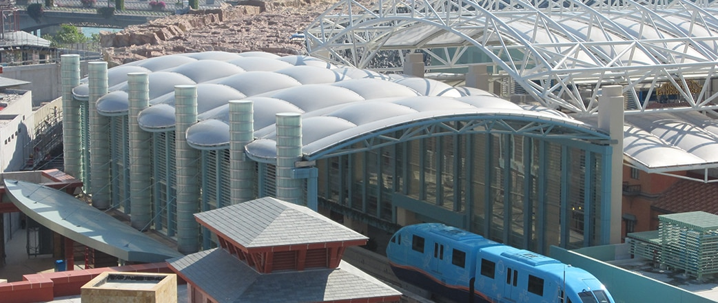 Universal Studios - Texlon® ETFE cladding was selected to cover several canopies covering over 30,000 m2.