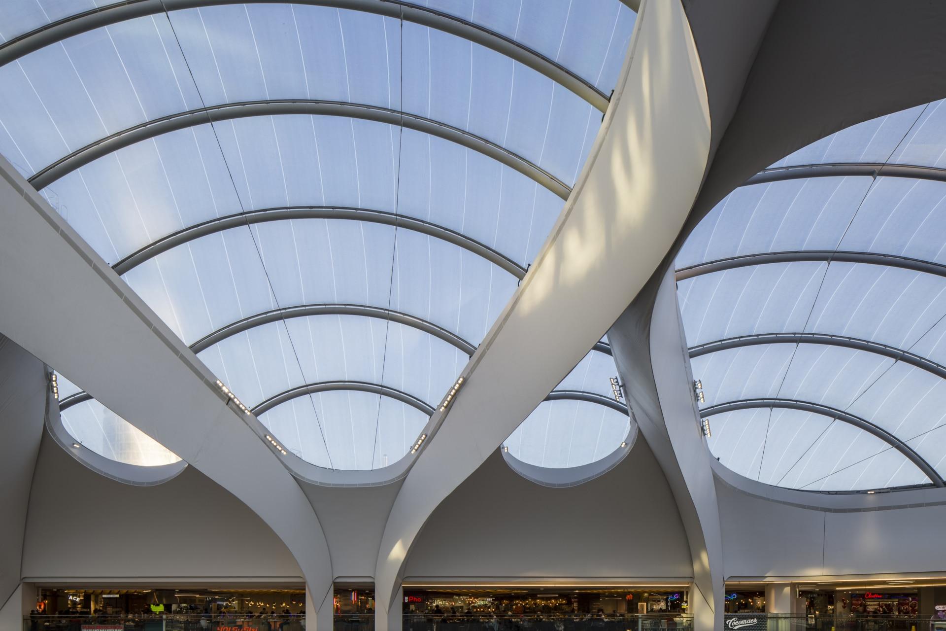 ETFE atrium at Grand Central Shopping Center