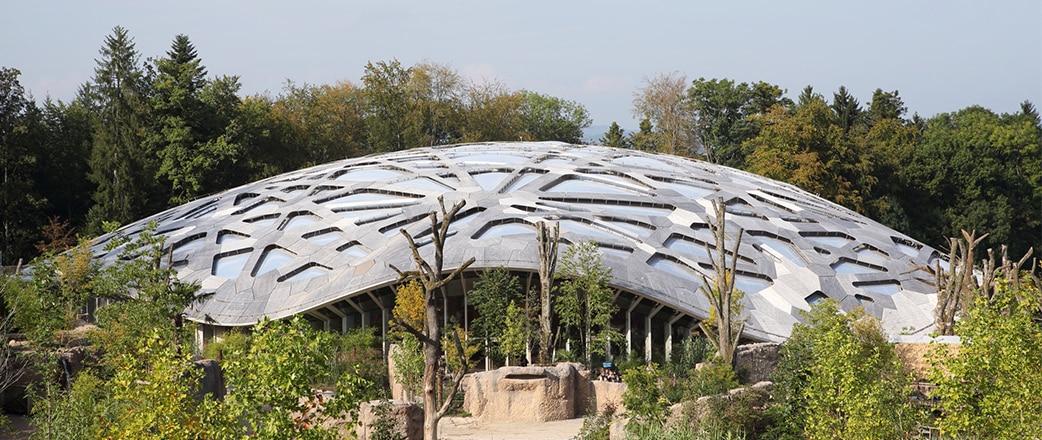 Texlon® ETFE-Dach betont natürlichen Aspekt des Elefantenparks