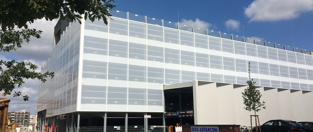 Printed ETFE facade system.