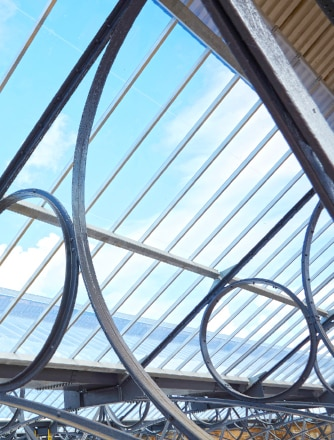 Look under the roof at Carlisle Station's renovation project