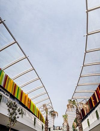 Texlon® ETFE-Dach mit einer einzigartigen Dachkonstruktion.