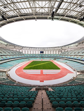Baku Olympic Stadium: an impressive 68,000-seat venue.