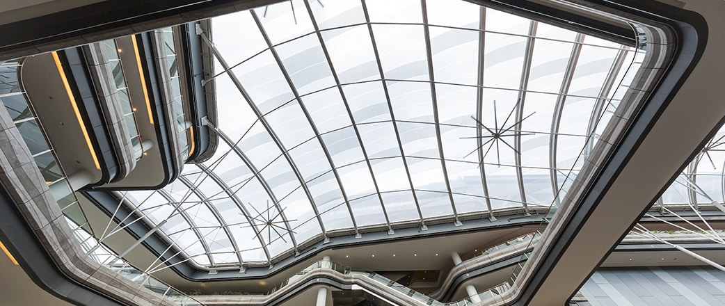 Vector Foiltec helped create comfortable space with a translucent, two layer, 3,600 m² Texlon® ETFE canopy at Our Tampines Hub in Singapore.