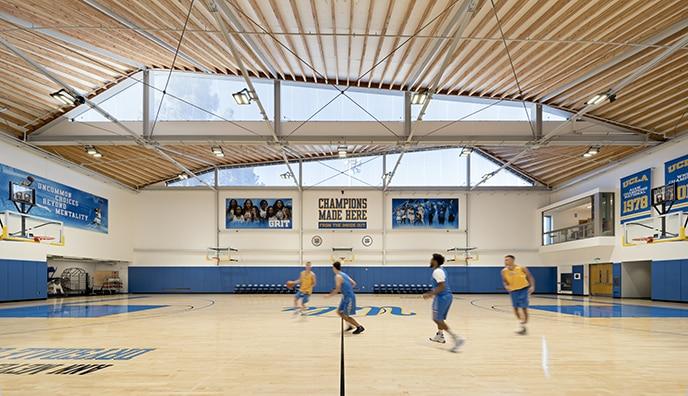 Die Texlon® ETFE-Fassade ist nach Norden ausgerichtet und lässt natürliches Licht in die Räume.