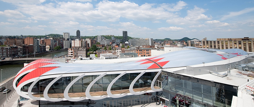 The elegant Texlon® ETFE facade and roof from the outside.