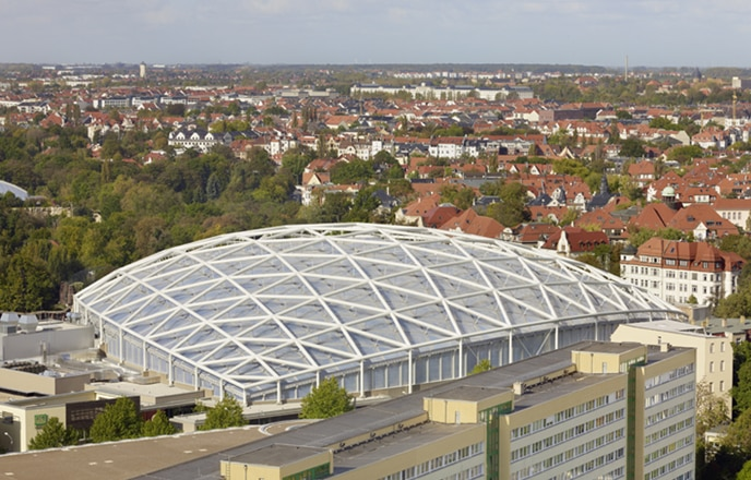 Texlon ETFE roof and facade elements.
