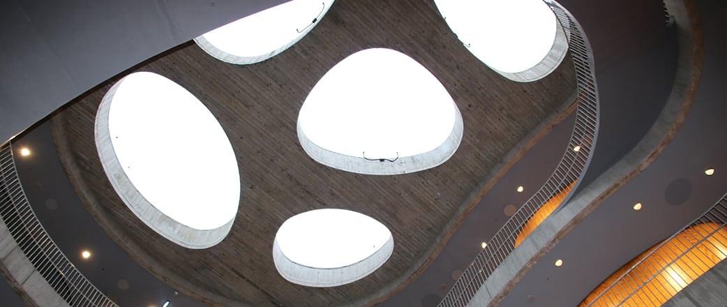 Texlon® ETFE Oberlichter von Vector Foiltec schaffen eine angenehme Atmosphäre in einem faszinierenden Atrium im Copenhagen Plant Science Center (CPSC) in Dänemark.