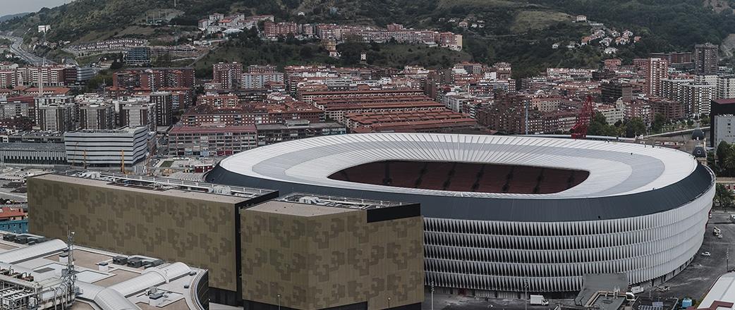 Beeindruckende Sicht: das fertiggestellte Stadion nach der zweiten Phase.