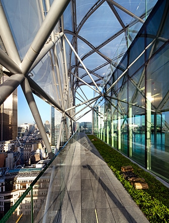 6 Bevis Marks with Texlon ETFE roof and facade elements.