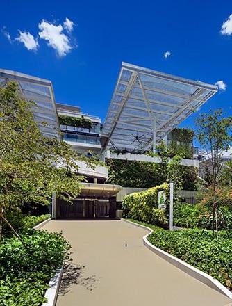Stamford American Early Learning Village mit Texlon® ETFE-System von Vector Foiltec als Vordächer für die Spiel- und Lernbereiche im Freien.