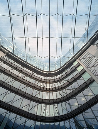 Transparency and openness for the atrium are maximized with our Texlon® ETFE cushion system.