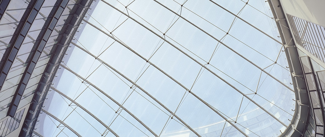 We could not miss the opportunity to install a 700 m² Texlon® ETFE roof at the seventh floor covering the atrium.