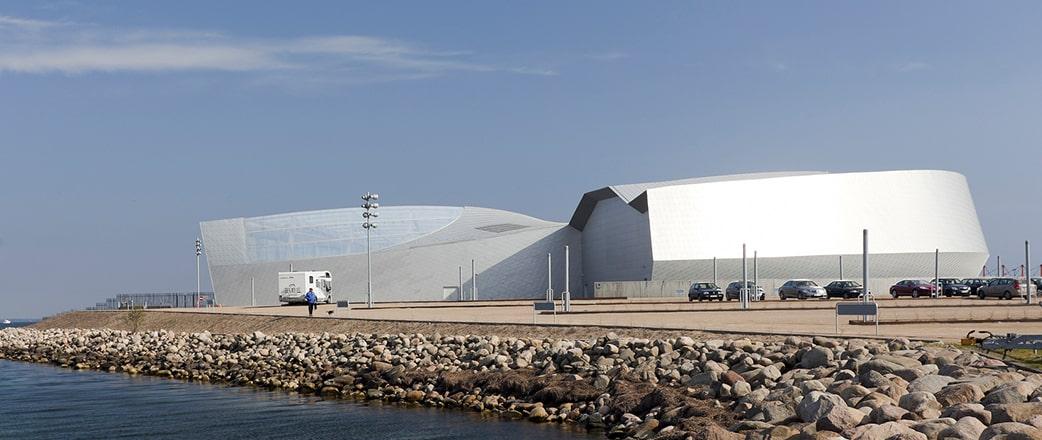 Das Aquarium besticht durch seine preisgekrönte Architektur.