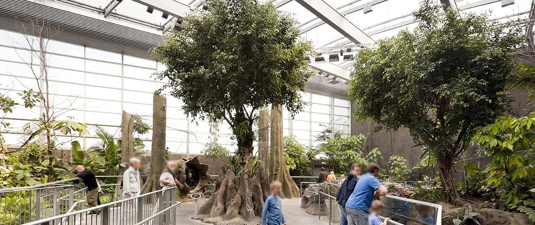 The Texlon® ETFE system creates a light-flooded area at the national aquarium in Copenhagen, Denmark, The Blue Planet (Den Blå Planet).