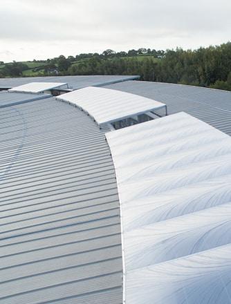 Das ETFE-Überdachungssystem wurde entwickelt, um eine natürlich beleuchtete Umgebung aufrechtzuerhalten.