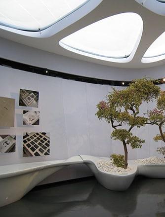 195 m² Texlon® ETFE-Oberlichter von Vector Foiltec waren immer Teil der Weltreise des Chanel Touring Pavilion.