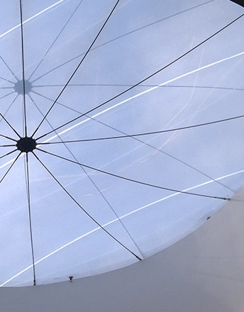 One of the Texlon® ETFE skylights creating a light-filled mall.
