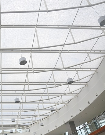 KCC Mall's main atria is covered by a printed Texlon® ETFE cladding system and lets daylight come in.