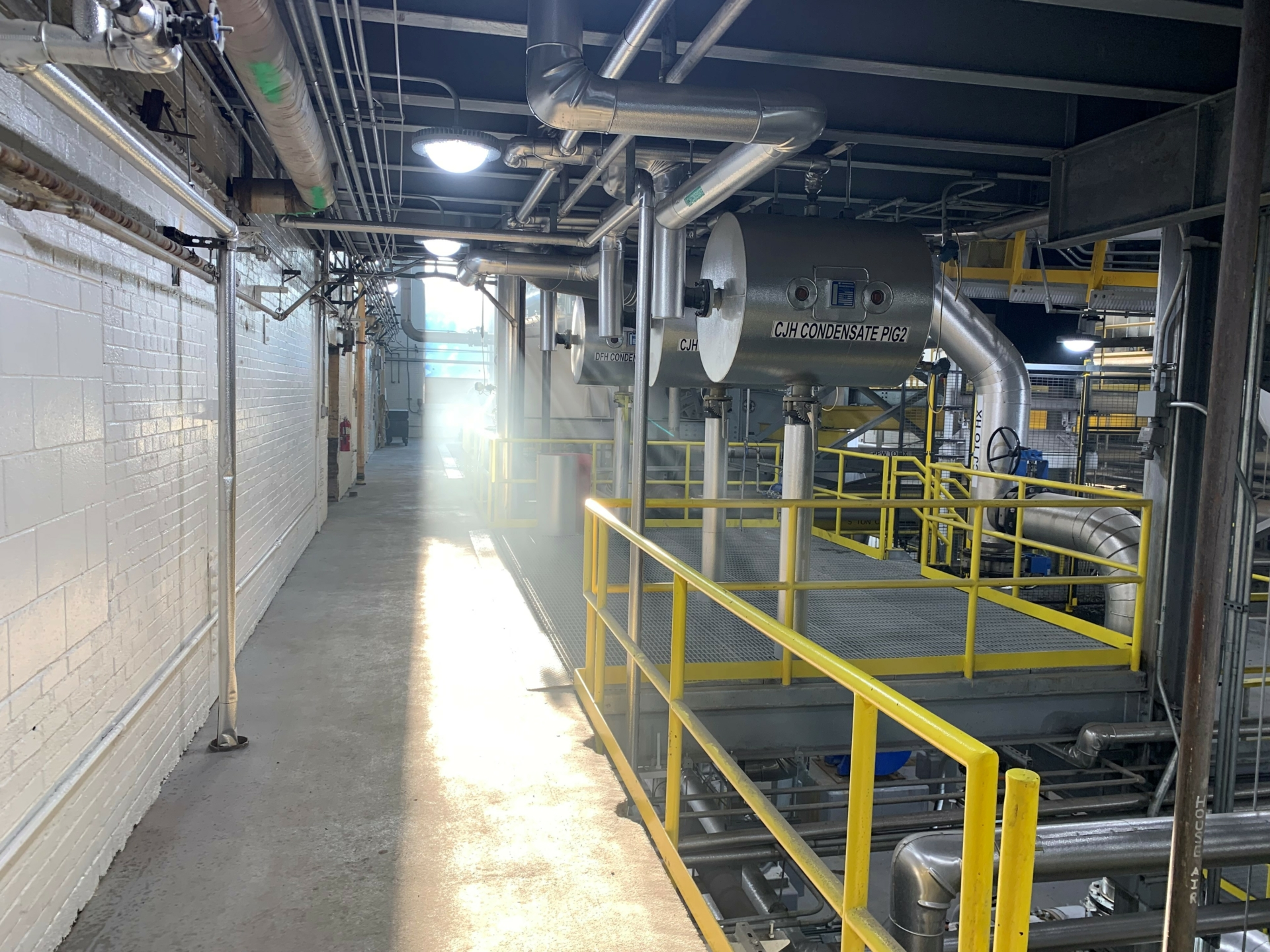 Light flooded factory after the installation of Texlon® ETFE windows.